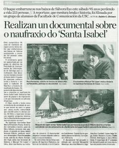 20110103 Reportaxe documental Santa Isabel Correo