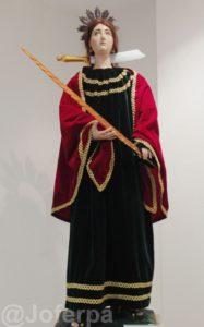 Vella imaxe da Patrona Santa Uxía